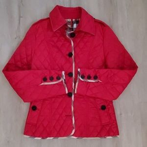 Burberry Quilted Jacket with Nova Check Print